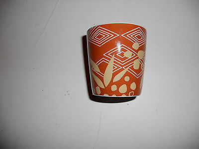 Starbucks 2013 3 oz Taster Demi Expresso Cup Shot Glass Brown & Tan EUC