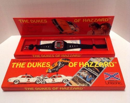 Vintage 1981 The Dukes Of Hazzard LCD Quartz Watch. MIB! Working!