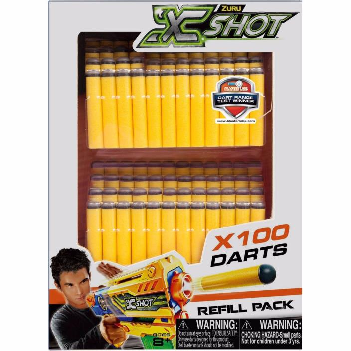 X-Shot Dart Refill Pack For NERF 100pk *NEW* Free Ship