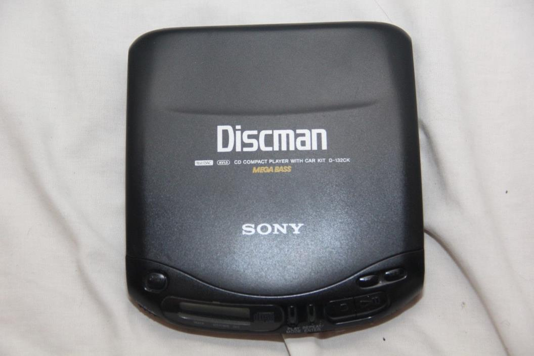 Sony Discman D-132CK Mega Bass Portable CD Compact Player