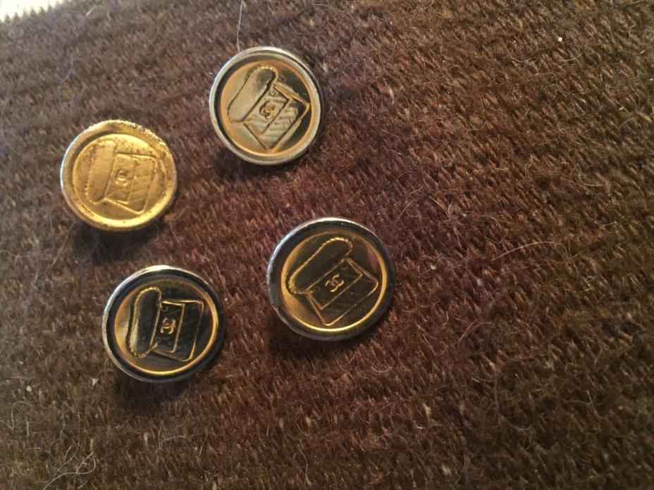 CHANEL GOLDTONE PURSE CC LOGO FOUR BUTTONS LOT DAMAGED 15MM