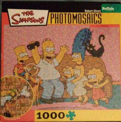 Photomosaics The Simpsons 1000 Piece Jigsaw Puzzle Robert Silvers Buffalo Games