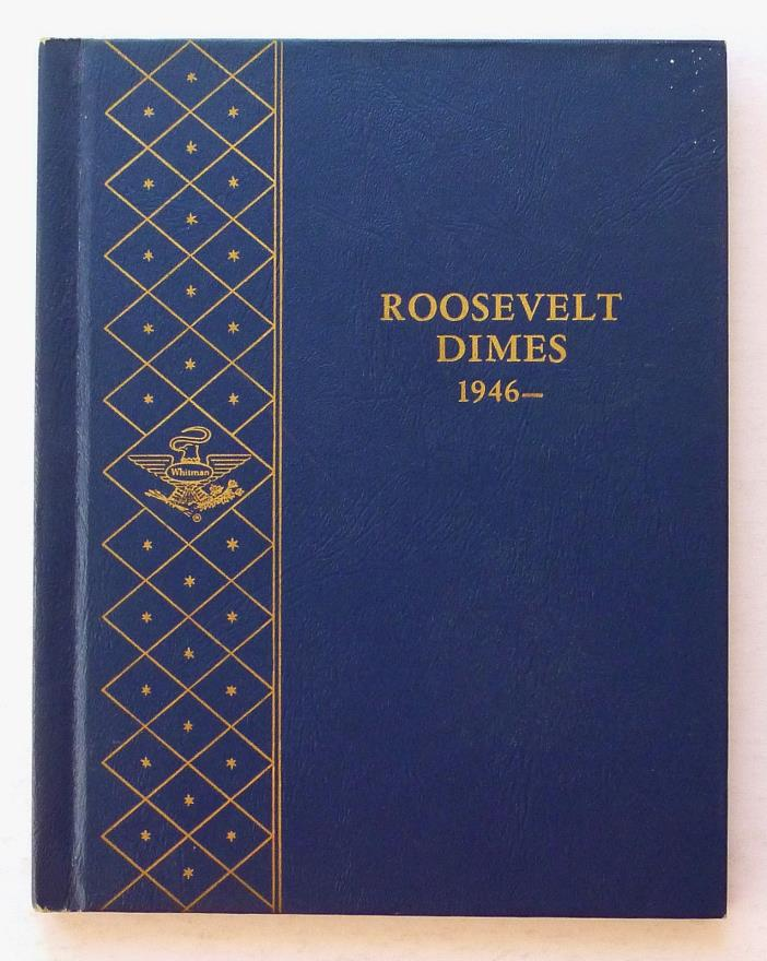 WHITMAN COIN ALBUM ~ ROOSEVELT DIMES 1946-64D +++ USED ~ 2 PAGES