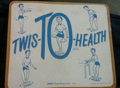 Twist to health fitness physical education tool vintage exercise board