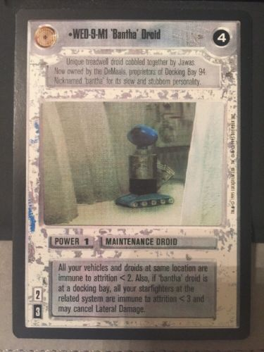 Star Wars CCG Premiere WED-9-M1 'Bantha' Droid Limited BB Black Border played