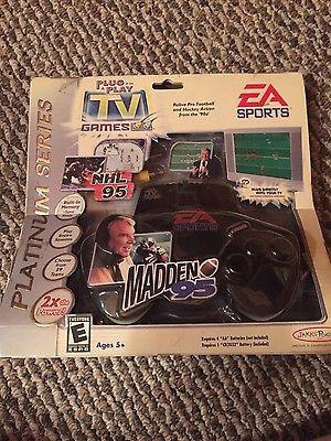 MADDEN 95 & NHL 95 PLUG & PLAY VIDEO GAME EA Sports TV Football Hockey Jakks