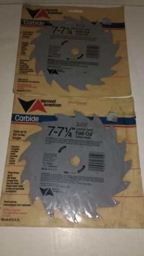 2 Vermont American Carbide Circular Saw blades~7-7 1/4
