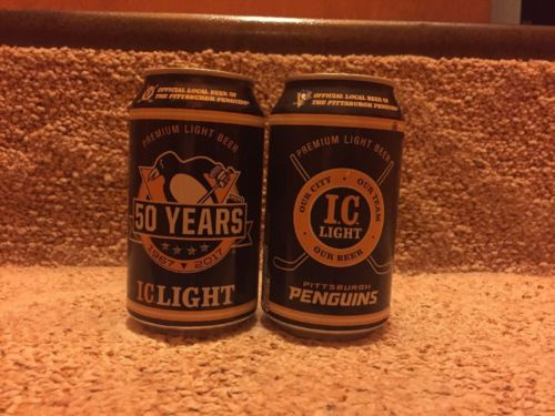 IC Light Pittsburgh Penguins 50th Anniversary Beer Can