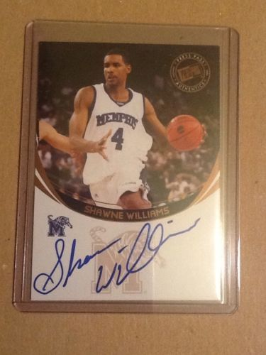 Autograph Card Shawne Williams Basketball Card