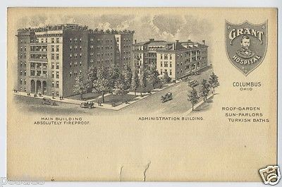 1900s Grant Hospital Spa Building COLUMBUS Ohio OH POSTCARD