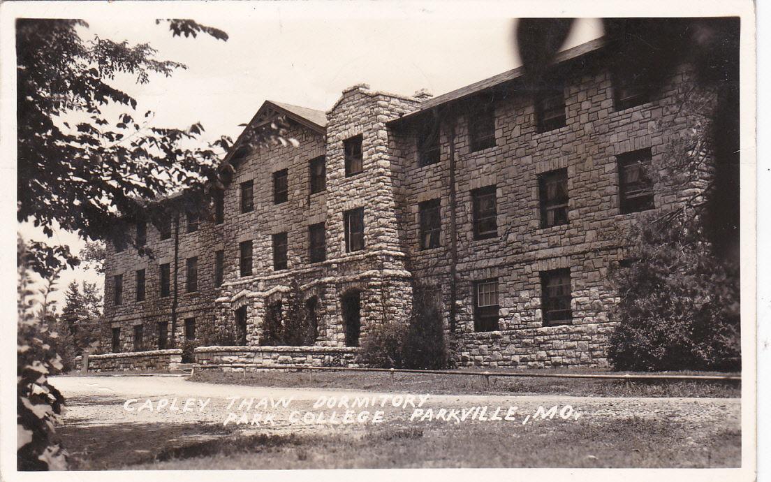 RP; PARKVILLE, Missouri, PU-1942; Capley Thaw Dormitory, Park College