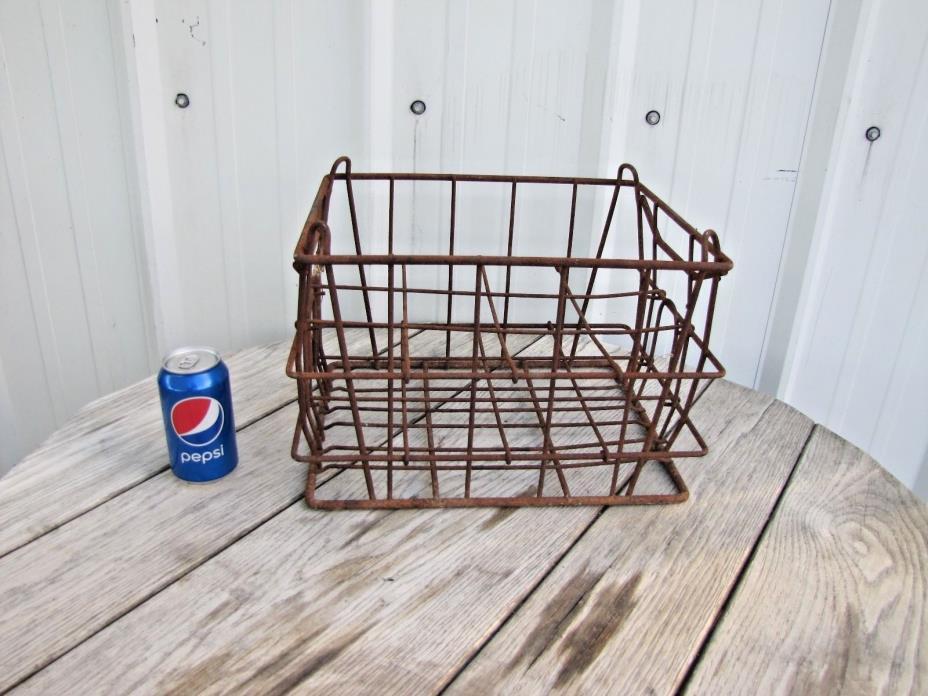 Six Milk Bottle Carrier Holder Wire Basket Rustic Dairy: Daisy Fresh, California