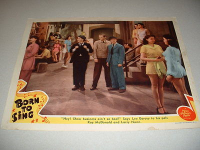 BORN TO SING- DEAD END KIDS- 1940 LOBBY CARD