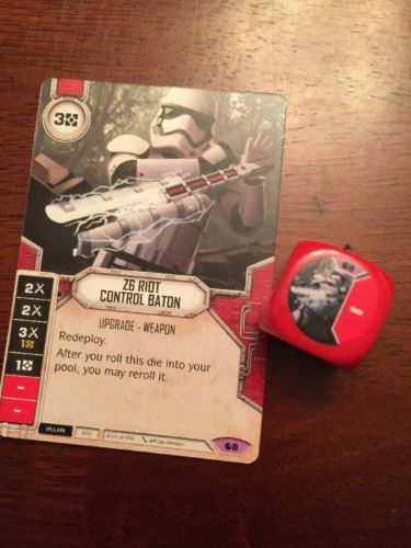 Star Wars Destiny -- Z6 Riot Control Baton -- Legendary#8 -- Spirit of Rebellion