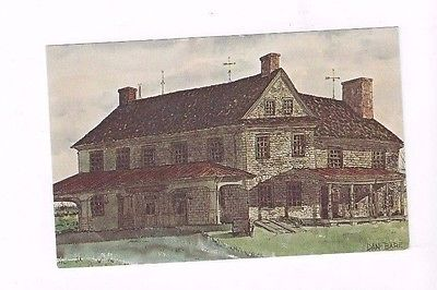 PA Brickerville Pennsylvania vintage chrome post card Brickerville House