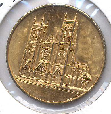 New York St. John the Divine Cathedral Church Coin Medal Token