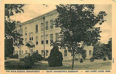 Mississippi, MS, Bay Saint Louis, Saint Augustine's Seminary, High School 1949PC