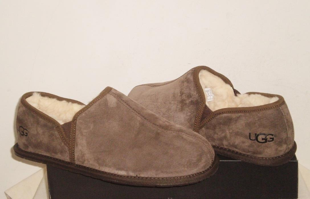 UGG Men's SCUFF ROMEO II Slippers Shoes 12US ESPRESSO Brown Suede NWB $100 MSRP