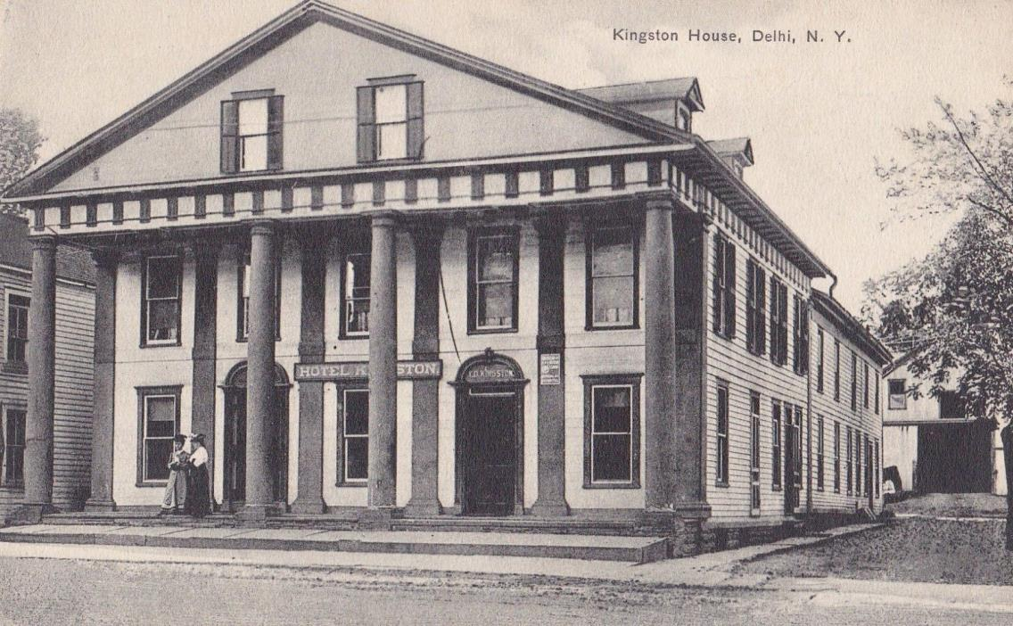 Kingston House . Delhi, New York . Postcard