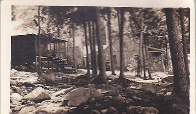 1930's Advertising Postcard for R E Boomer Camps Belgrade Lake Maine Real Photo