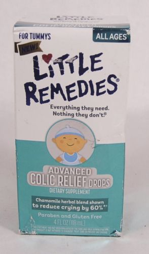 06/2017 Little Remedies Advanced COLIC RELIEF DROPS 4oz herbal Chamomile blend