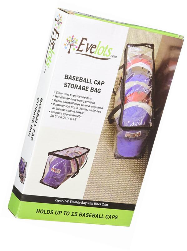 Baseball Cap Hat Bag Organizer Zipper Sport Protector Case Storage Shut Holder