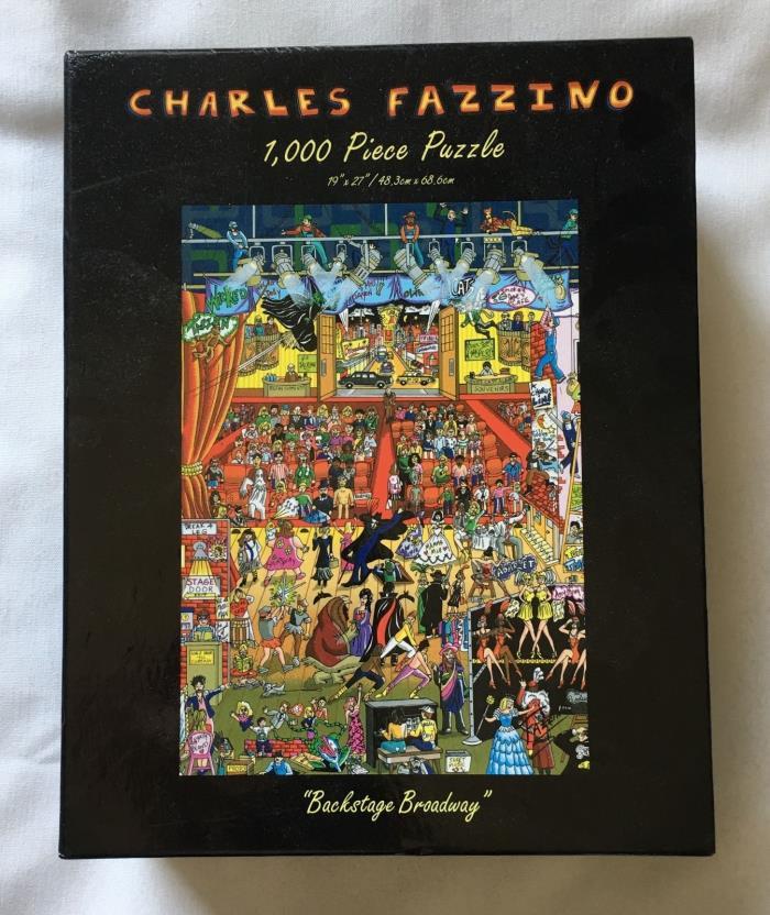 Charles FAZZINO Jigsaw 1,000 pc Puzzle BACKSTAGE BROADWAY 3D Pop Art