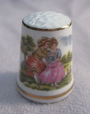 Two Victorian Women Collectible Porcelain Thimble - * Free Shipping*