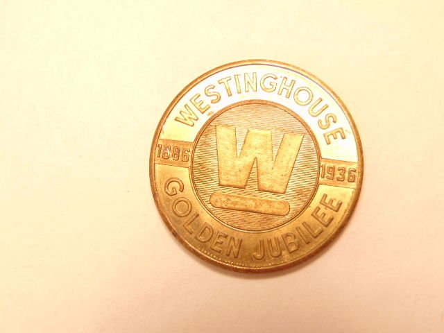 Vintage advertising token: Westinghouse 50th anniversary 1886-1936