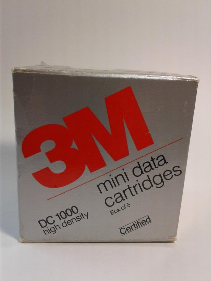 Sealed 3M Mini Data Cartridges DC 1000 High Density Box of 5