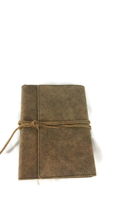 Brown Leather Distressed Journal with wraparound leather cord