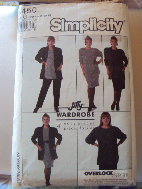 Simplicity Top Skirt Pants Pattern 8450 UNCUT size 22-26  Vintage Free Shippin