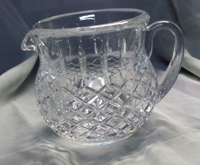 Vintage Heavy Glass Cut Crystal Pitcher