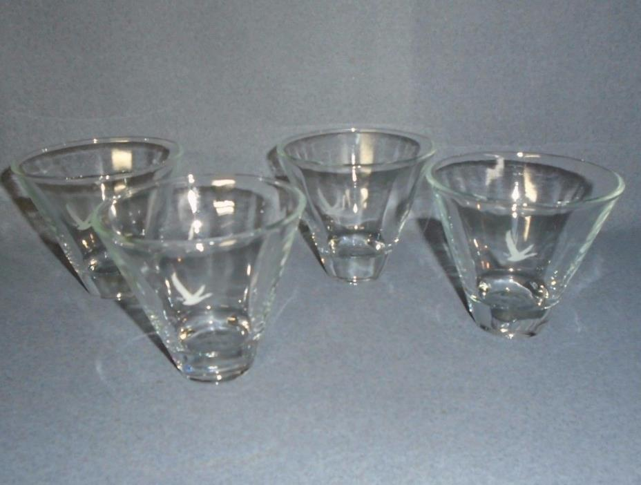 Grey Goose Martini Glasses Set of Two New Unused STEMLESS SET OF 4