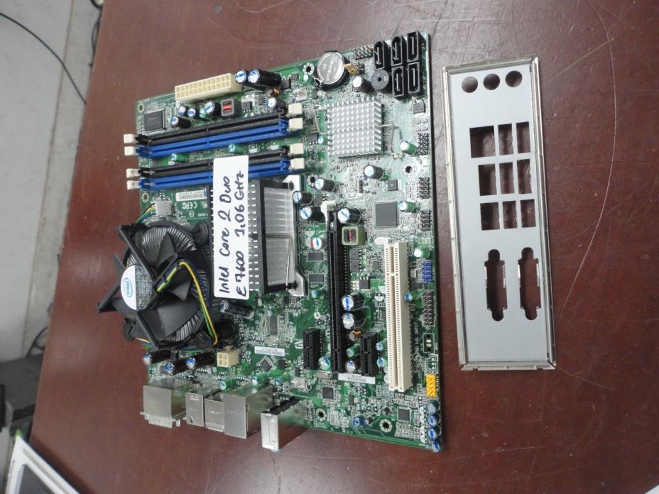 LOT 10x Intel DQ45CB Motherboard E30148-207 + Core2Duo E7600 3.06GHz CPU + I/O