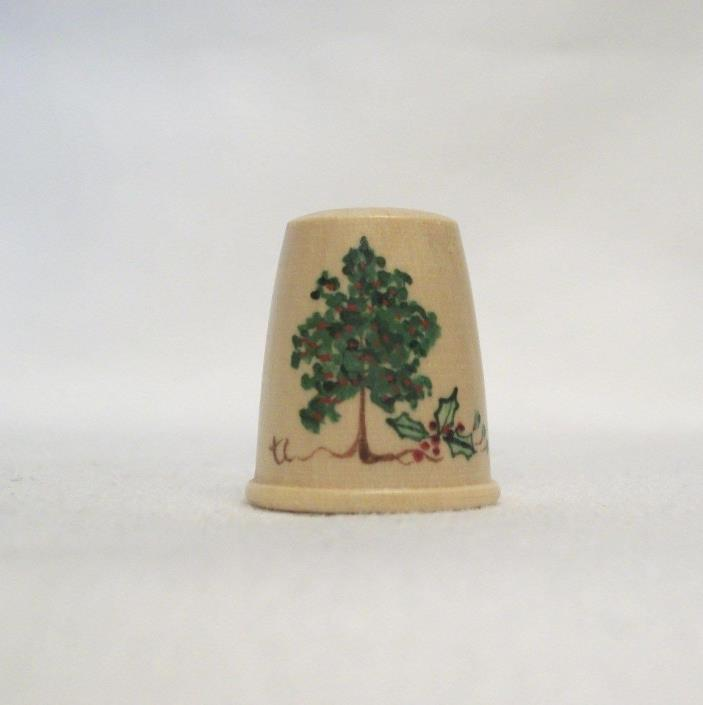 North American Tree Series Wood Thimble – RED MULBERRY