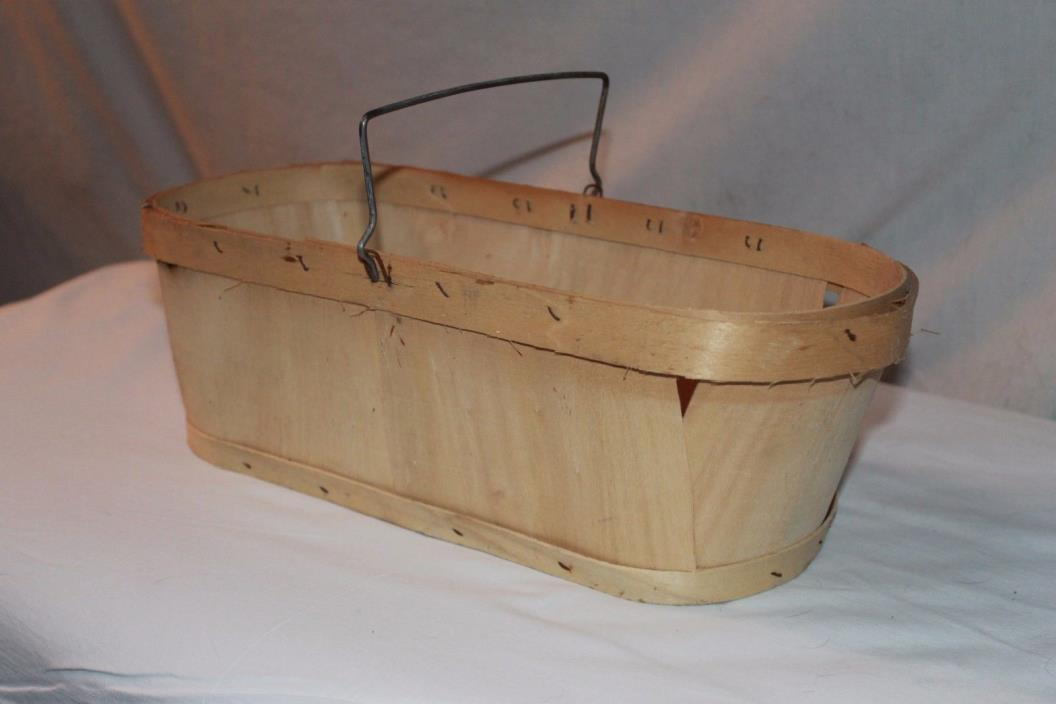 Vintage Wooden Berry Basket