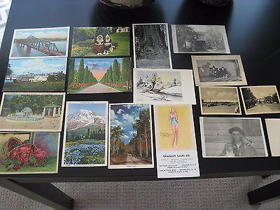Vintage Lot of 18 Misc. Postcards Birthday Cards Ink Blotter