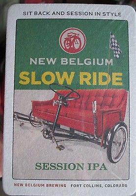 Coaster New Belgium Slow Ride Session IPA  Brewing ,Colorado 100 units