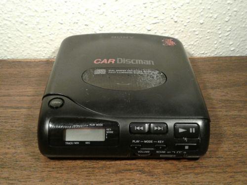 Sony D-180K Discman Portable Car CD Player Walkman Japan Made WORKING