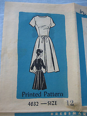 Vintage Anne Adams Mail Order Sewing Pattern No. 4632 Dress - Size 12 - Uncut