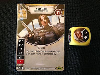 Jyn Erso (SoR) - Star Wars Destiny Singles - Near Mint Card and Die