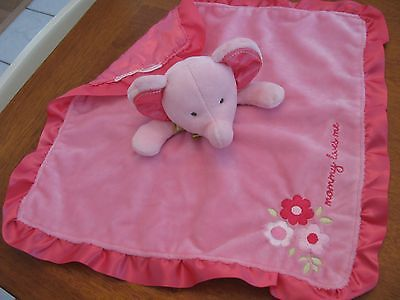 carters mommy loves me satin lovey BLANKET  flowers elephant 15
