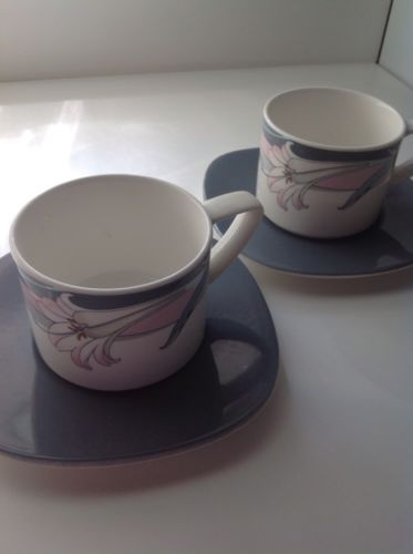 2 New Decade NORITAKE NEW ORLEANS Cup(s) with Saucer(s)
