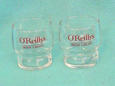 Pair of O'Reilly's Irish Cream Glasses