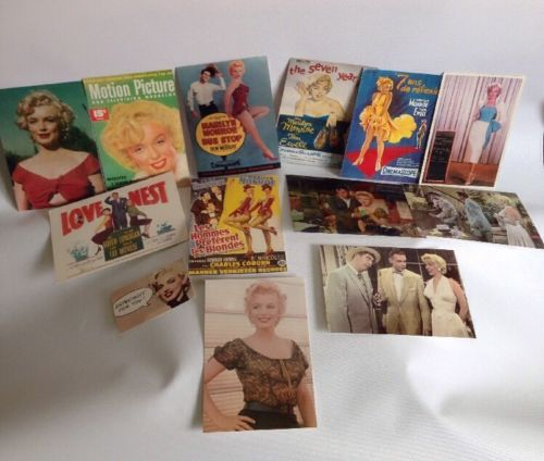 Vintage Marilyn Monroe Movie Postcards Lot Of 13