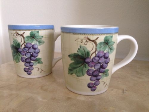 2 Pfaltzgraff MERLOT Mugs