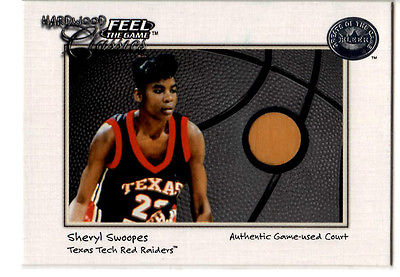 Sheryl Swoopes        Game used court card