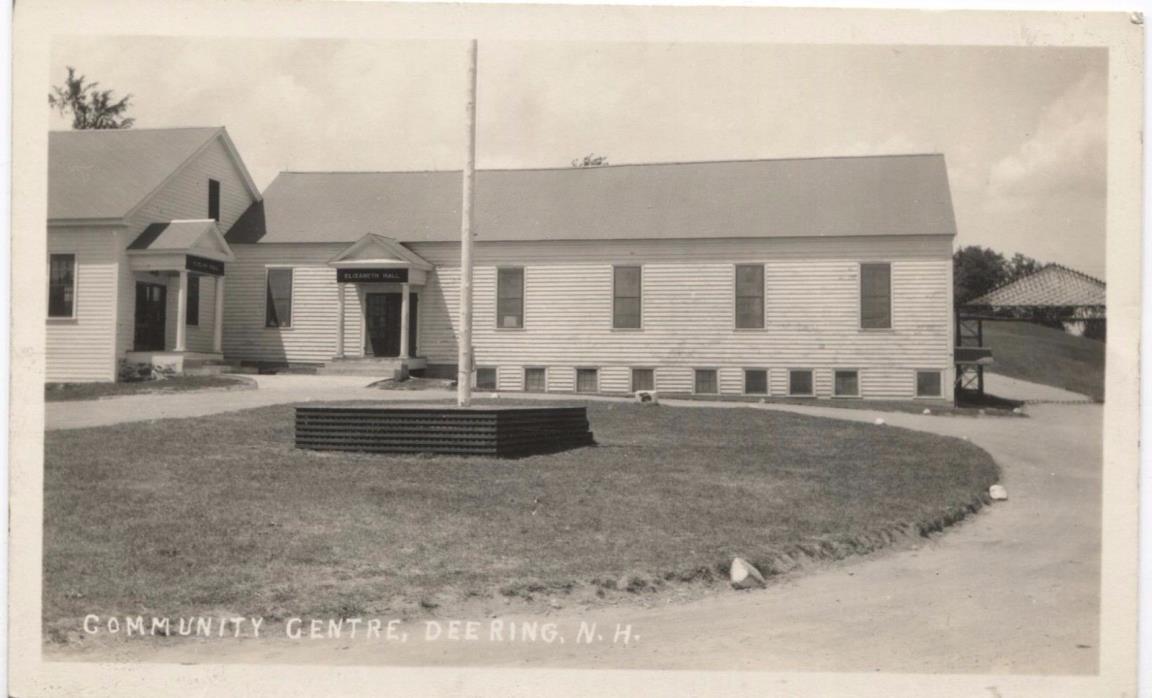 Community Center Deering New Hampshire Vintage RPPC Postcard L93