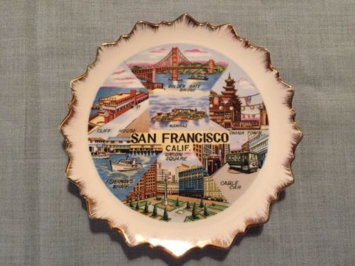 Vintage Souvenir San Francisco California Plate - Wall Hanging 7 Inches